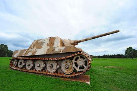 world war two: German World War Two Desert Panther Tank Stock Photo