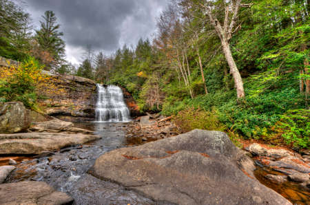 appalachian mountains: Muddy Falls waterfall in Autumn in the Appalachian mountains of Maryland