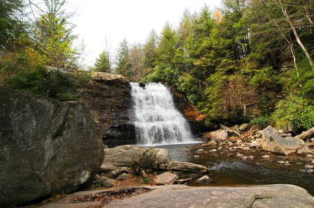 Waterfall at Swallow Falls Maryland in Autumn