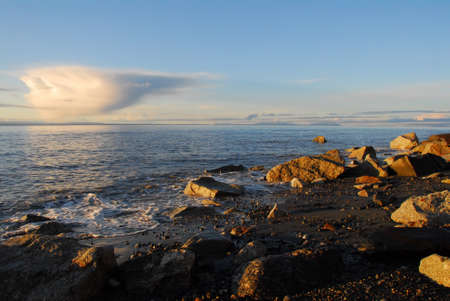 inlet: Sunset on a beach on the Cook Inlet, Alaska