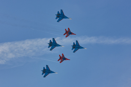 KUBINKA, MOSCOW REGION, RUSSIA Aerobatic team Russian Knights and Strizhi Editorial