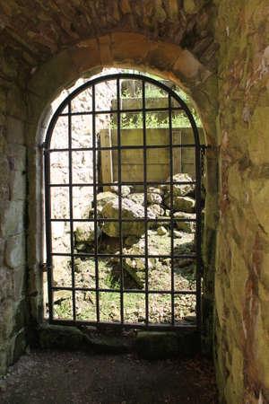 the abbey: Cistercian Abbey ruins gate