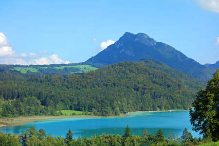 Fuschlsee in Salzburger Land in Austria 版權商用圖片