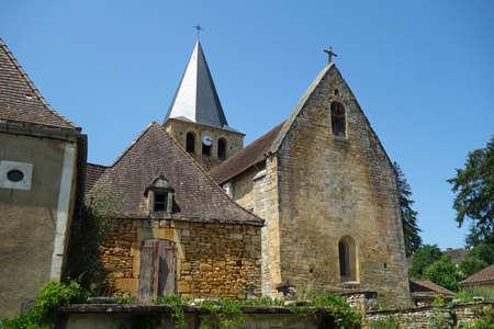 Parish church of Saint-Jean-Baptiste at Saint Pompont France