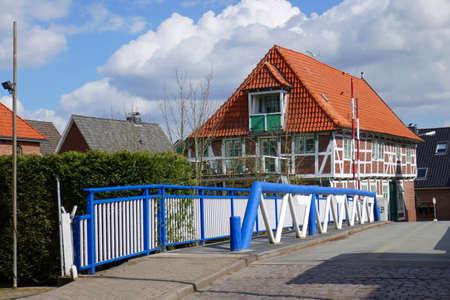 Bridge in Estebr?gge steel mill in Hamburg Waltershof
