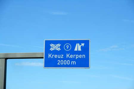 Autobahn sign Kreuz Kerpen, 9