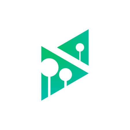 the logo of trees in two triangle shapes Vettoriali