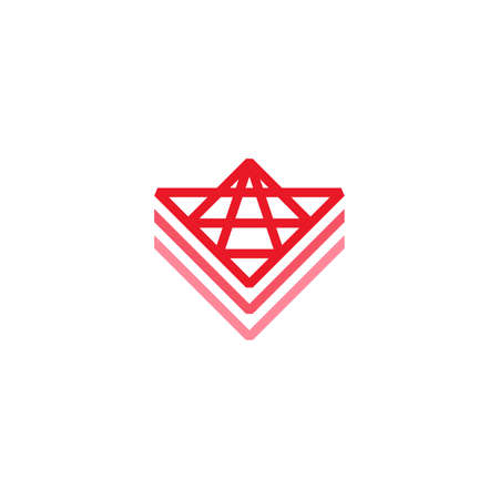 line art geometric logo for mapping or military 向量圖像