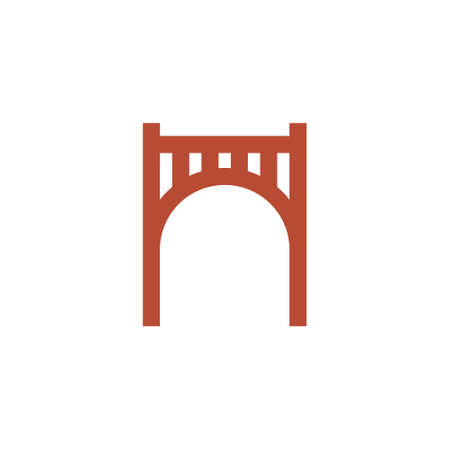 logo of a gate or bridge with arc shape