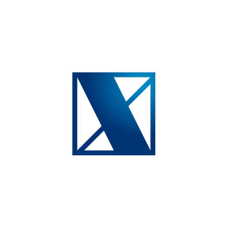 modern logo of letter x inside a square shape