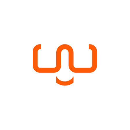 letter w logo that forms glasses with a smile curve. for outdoor and adventure products