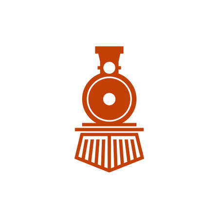 classic train locomotive logo for technology and industry Illustration