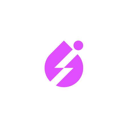a sport logo of a droplet, a bolt shape and a human figure