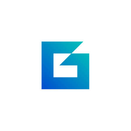 corporate letter g logo from the thick outline of a square