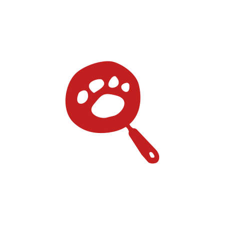 logo of a frying pan with animal paws inside