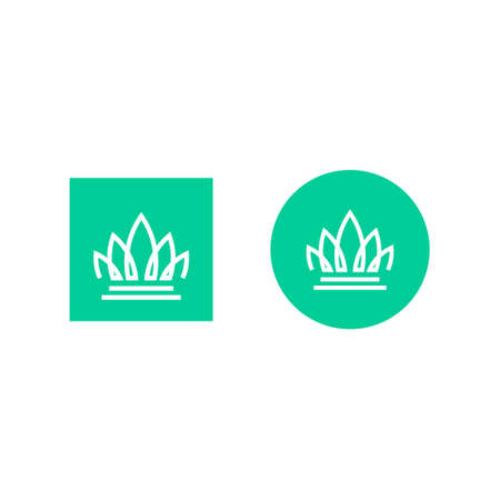 logo of a crown formed from the outline of the leaves