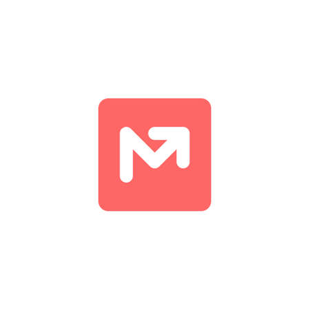 bold letter m logo with an up arrow inside a rounded corner square