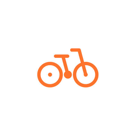 logo of a bicycle from simple lines