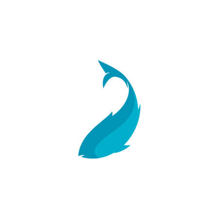 logo of a fish swimming while turning its body