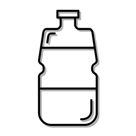 Classic Bottle of Pure Soda Drink. Flat Icon in