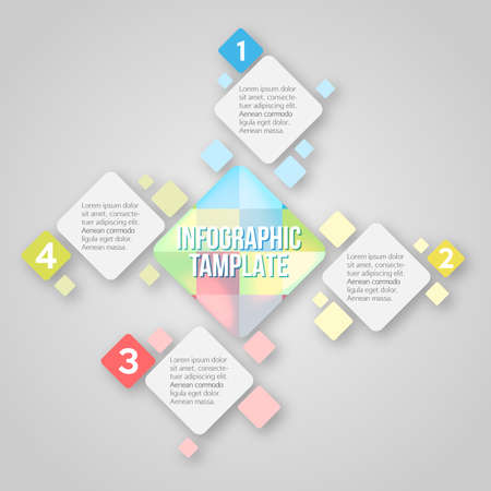 coloured: Coloured infographic template Illustration