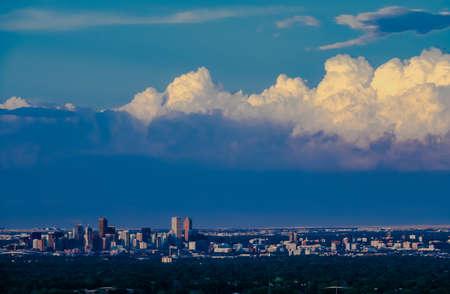 denver buildings: Skyline of Denver, CO Stock Photo