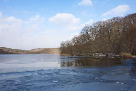 Frozen lake photo