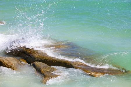 The waves breaking on a stony beach Stock Photo - 14417699
