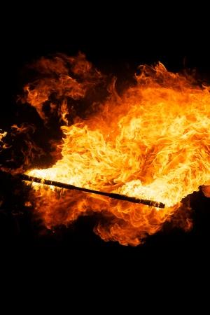 a cudgel: Fire stick Stock Photo