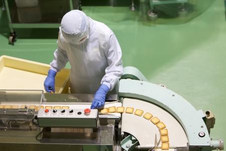 Cukrászda gyár termelési cookie- Stock fotó