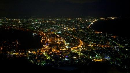 A famous night scenes in Hakodate, Hokkaido, Japan
