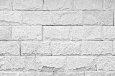 レンガの壁の装飾テクスチャ背景の白黒ショット