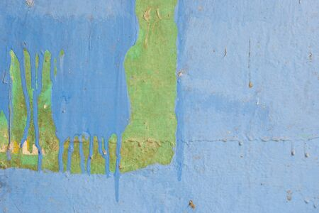 blue and green old dirty wall texture background photo