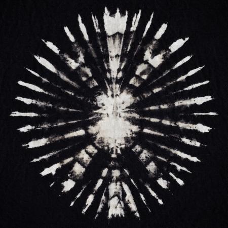 black tie: dispararon cerca de tie dye fondo textura de la tela Foto de archivo