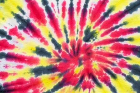 close up shot of tie dye fabric texture background Stock Photo