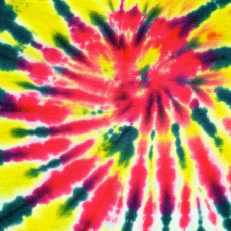 close up shot of tie dye fabric texture background photo