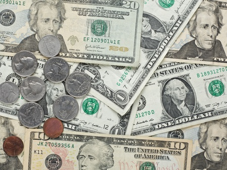 American dollar money background for business photo