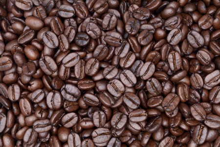 close up shot of coffee background Stock Photo