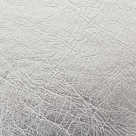 close up shot of silver leather texture background Stock Photo