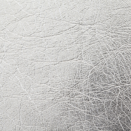 close up shot of silver leather texture background photo