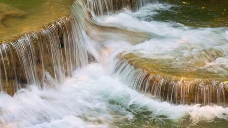 close up shot of waterfall Stock Photo