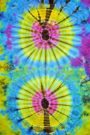 close up shot of tie dye fabric texture  photo