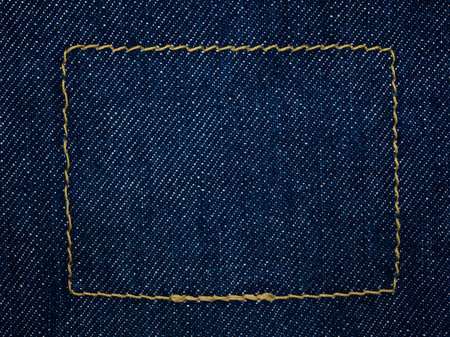 close up shot of raw denim indigo blue jeans texture background photo