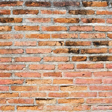 very old brick wall texture background in square ratio