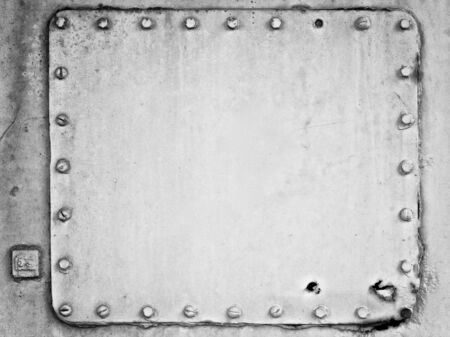 black and white shot of an old metal plate texture background in 4x3 ratio