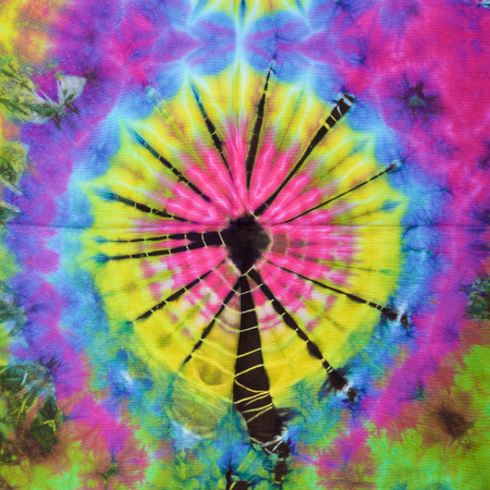 tie dye: close up shot of tie dye fabric texture background Stock Photo