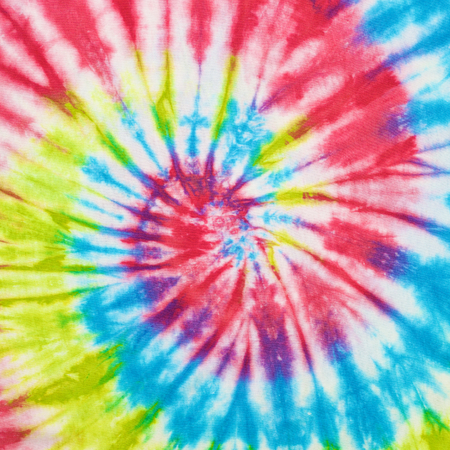 close up shot of tie dye fabric texture background 写真素材