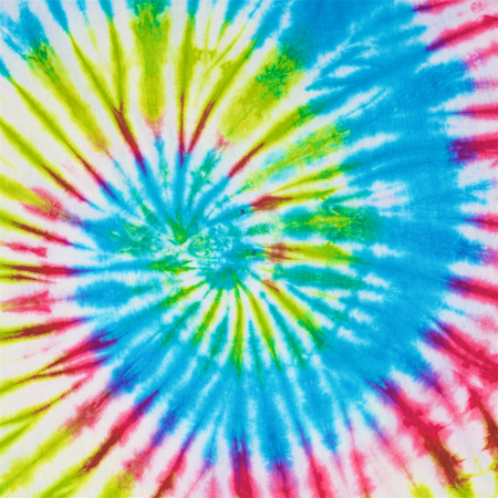 close up shot of tie dye fabric texture background in square ratio