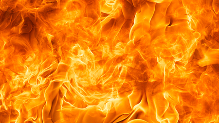 blaze fire flame texture background in Full HD ratio, 16x9 Stock Photo