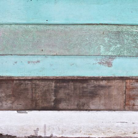 very old light green, white, dark brown vintage wood planks texture background in square ratio Stock Photo
